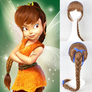 The Pirate Fairy Fawn Wig, Brown Tinker Bell Fawn Cosplay Wig
