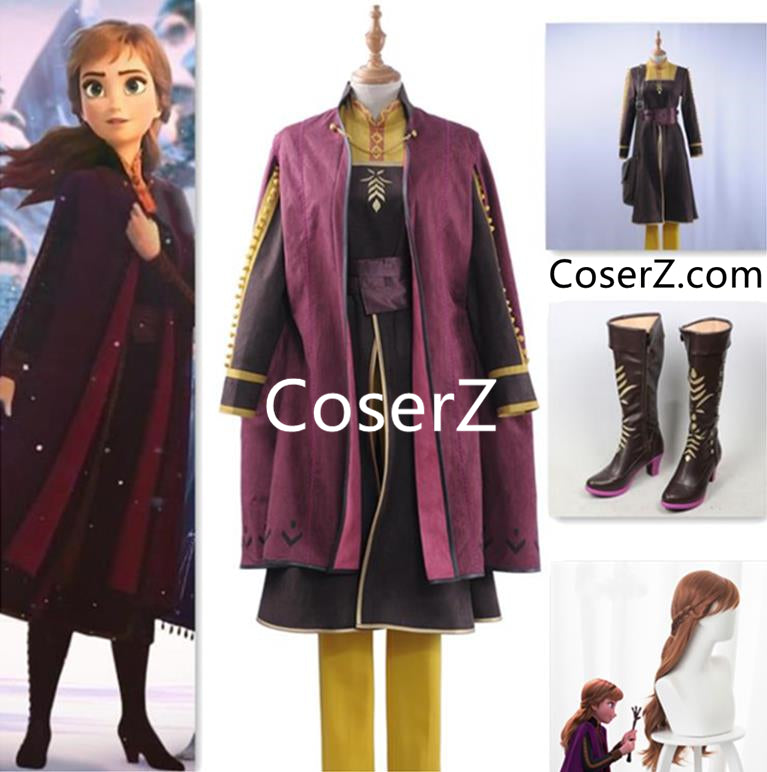 Frozen 2 Anna Outfit Adult New Princess Anna Costume for Women