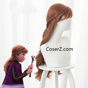 Frozen 2 Anna Wig, New Anna Frozen 2 Hair Cosplay Wig