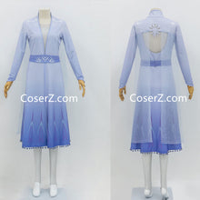 Frozen 2 Elsa Outfit, Blue Elsa Frozen 2 Costume New Dress for Cheap