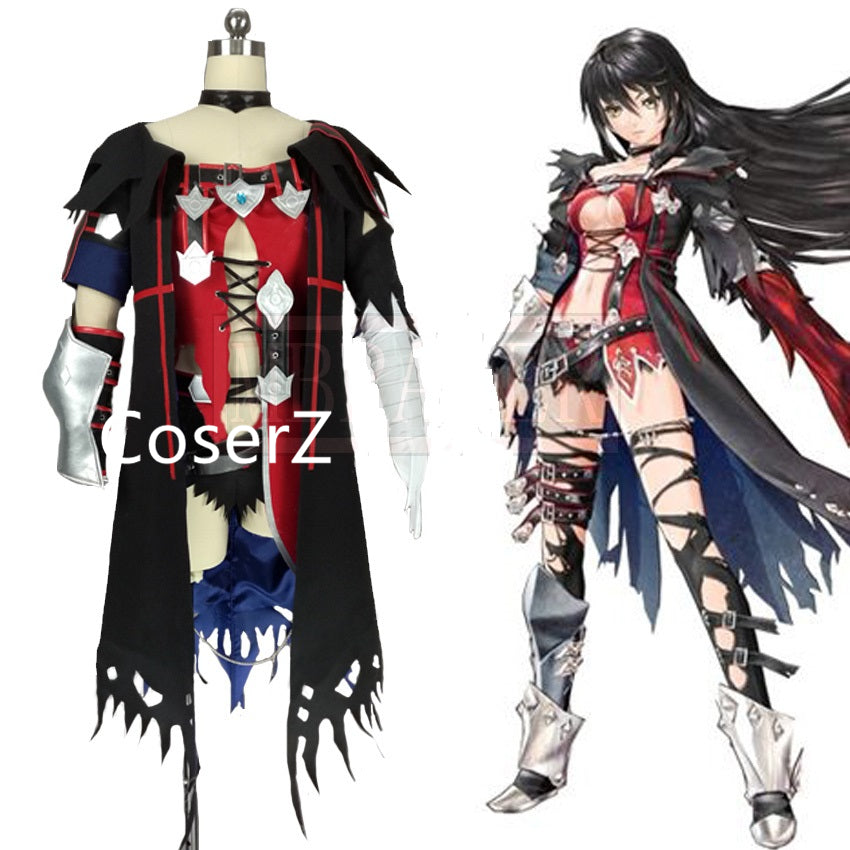 Game Tales of Berseria Velvet Crowe Costume Adult Women Halloween Cosplay Costume