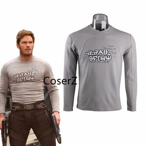 Guardians of the Galaxy 2 Top Costume Peter Jason Quill Cosplay T shirt