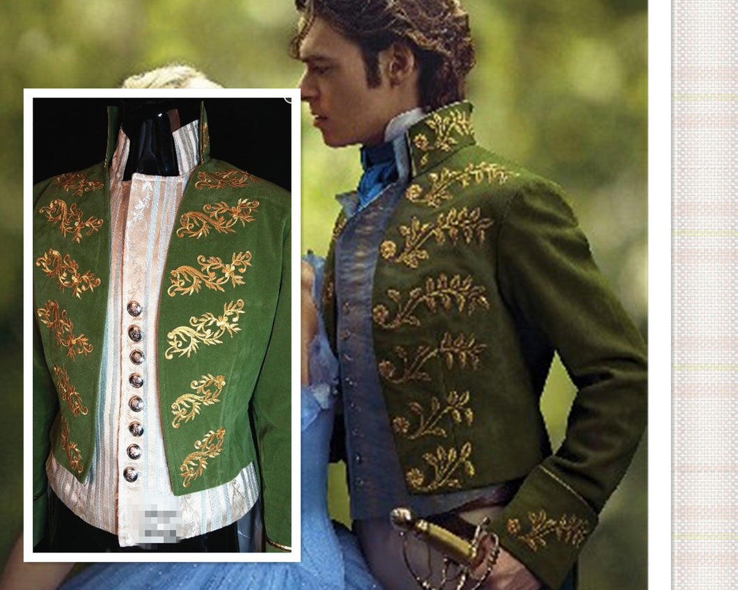 Cinderella 2015 Prince Charming Costume, Charming Cosplay Costume Custom-made