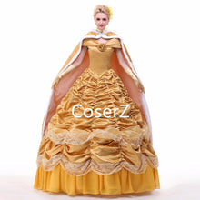 Custom-made Princess Belle Dress with Cape, Princess Belle Cosplay with Cape