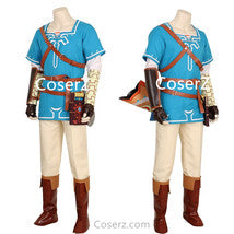 Custom The Legend of Zelda Breath of the Wild Link Costume Link Cosplay Outfit
