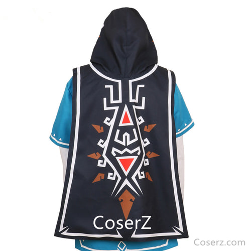 Custom The Legend of zelda breath of the wild Link Cloak Cosplay Costume