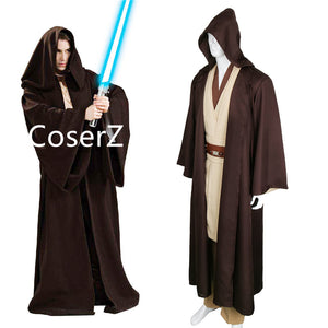 b6b226e5a0 Star Wars Jedi Sith Knight Cloak Cosplay Adult Kids Hooded Robe Only