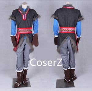 Custom Kristoff Costume Outfit Halloween Cosplay Costume