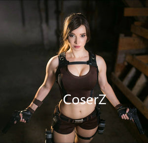 Game Custom Tomb Raider Cosplay Lara Croft Cosplay Costume, Lara Croft costume Adults
