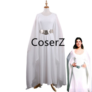 be173a656200 Princess Leia Dress White Leia Costume Adult Star Wars the Last Jedi Cosplay  Costume
