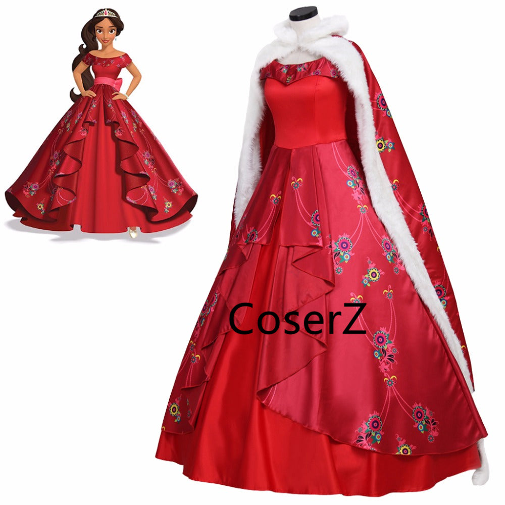 Elena of Avalor Elena Costume, Elena of Avalor Dress with Cloak