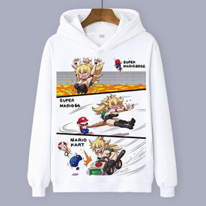 New Super Mario Bros Bowser Princess Bowsette Hoodie 6 Versions