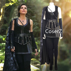 Once Upon A Time season 3 4 Cosplay Costume Evil Queen Regina Luxury Ball Gown