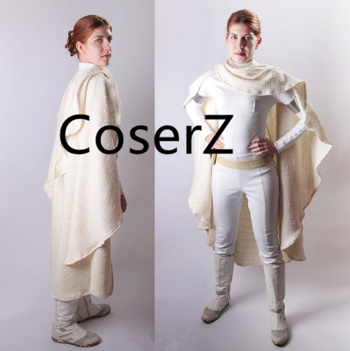 Padme Amidala Costume Star Wars Cosplay Costume Episode II with Cloak