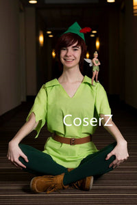 Custom Made Peter Pan Costume Green Carnival Party Cosplay Costume
