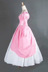Ariel Pink Dress, Pink Ariel Costume, Ariel Cosplay Halloween Costume