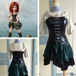 Pirate Fairy Cosplay Costume, Zarina Cosplay Costume, Pirate Fairy Zarina Costume