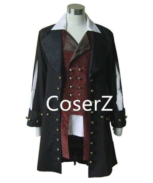 Pirates of the Caribbean Cosplay Costume Barbossa Jacket