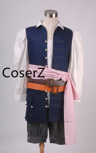 Pirates of the Caribbean Captain Jack Sparrow Costume Cosplay Full Sets