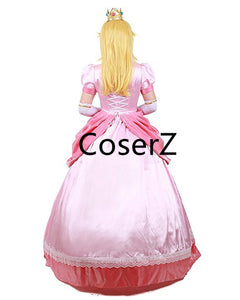 Custom Princess Peach Costume, Princess Peach Dress Cosplay Costume