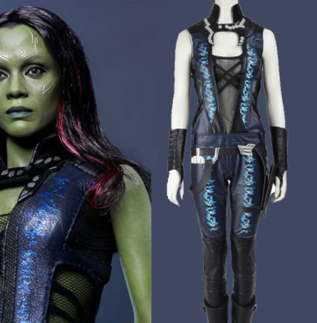 Guardians of the Galaxy Gamora Cosplay Costume Gamora Jumpsuit without Boots