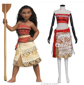 Moana costume, Moana cosplay Costume, Moana Dress costume