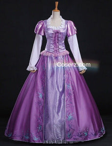 Tangled Rapunzel Dress, Princess Rapunzel Cosplay Costume for Adult Women