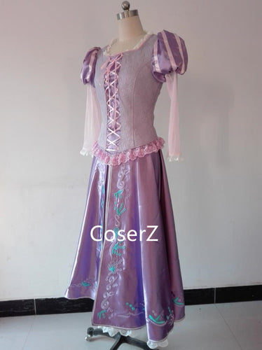 Tangled Princess Rapunzel Costume, Rapunzel Dress Cosplay Costume Custom Made
