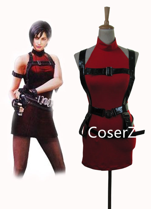 Custom Made Resident Evil 2 Ada Wong Cosplay Costume