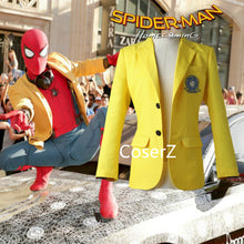 Custom Spider-Man Homecoming Peter Parker Yellow jacket Cosplay Costume