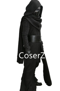 Star Wars Deluxe Kylo Ren Costume, The Force Awakens Cosplay Villain Kylo Ren Cosplay Costume