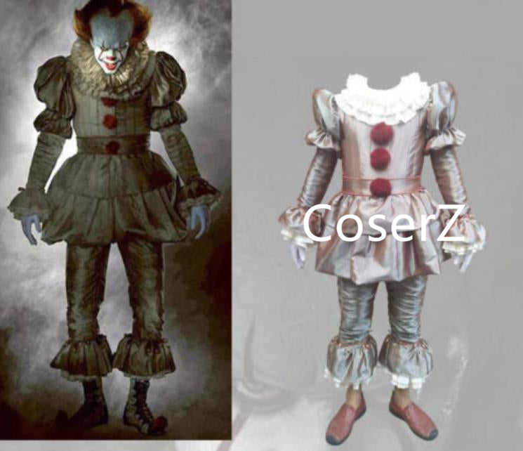 Halloween Stephen King's It Pennywise Cosplay Costume Clown Full Set