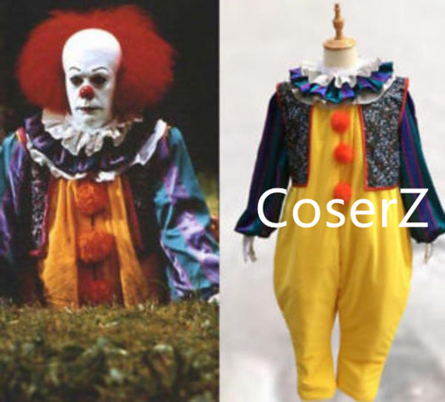Stephen King's It Pennywise Fancy Suit Pennywise Cosplay Costume Halloween