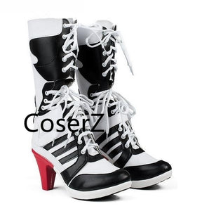 d0d3608e11f Custom Suicide Squad Clown Harley Quinn Boots Cosplay Women Shoes