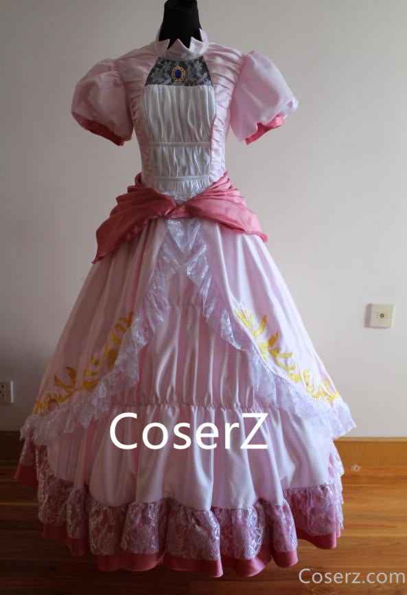 Super Mario Bros Princess Peach Dress, Princess Peach Cosplay Costume