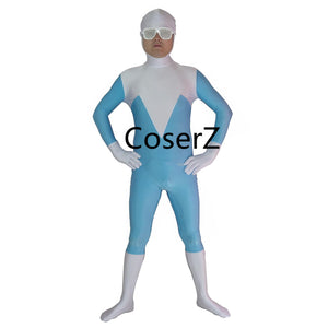 Superhero Frozone Costume Halloween Party Cosplay Zentai Suit