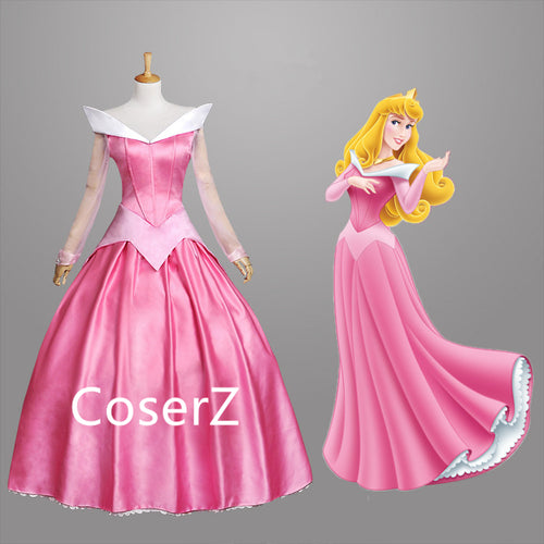 Movie Sleeping Beauty Princess Aurora Dress Cosplay Costume