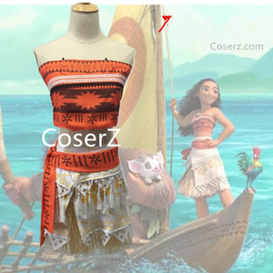 Simple Moana Dress, Moana Costume, Moana Cosplay Halloween Costume for Adults
