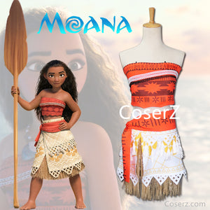 Kids Moana Dress, Moana Costume, Moana Cosplay Halloween Costume for Girls