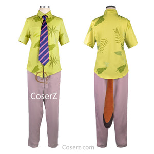 Zootopia Fox Nick Wilde Costume Uniform Outfit Suit T Shirt