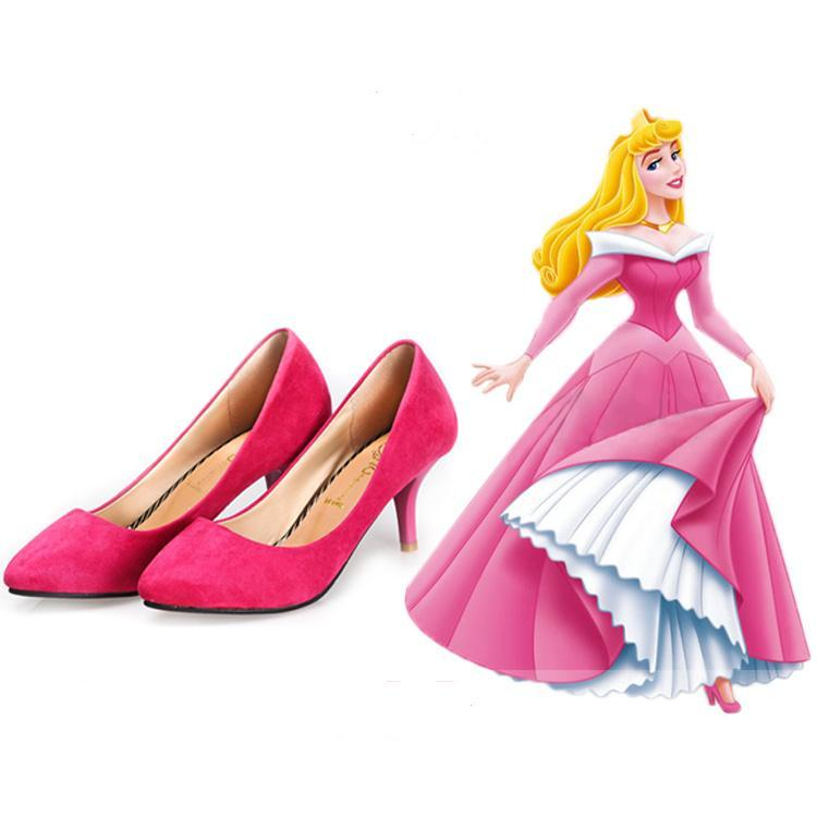 Sleeping Beauty Princess Aurora Shoes Heels