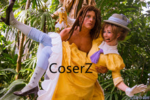 Tarzan and Jane Porter Costume, Jane Dress Cosplay Costume With Gloves