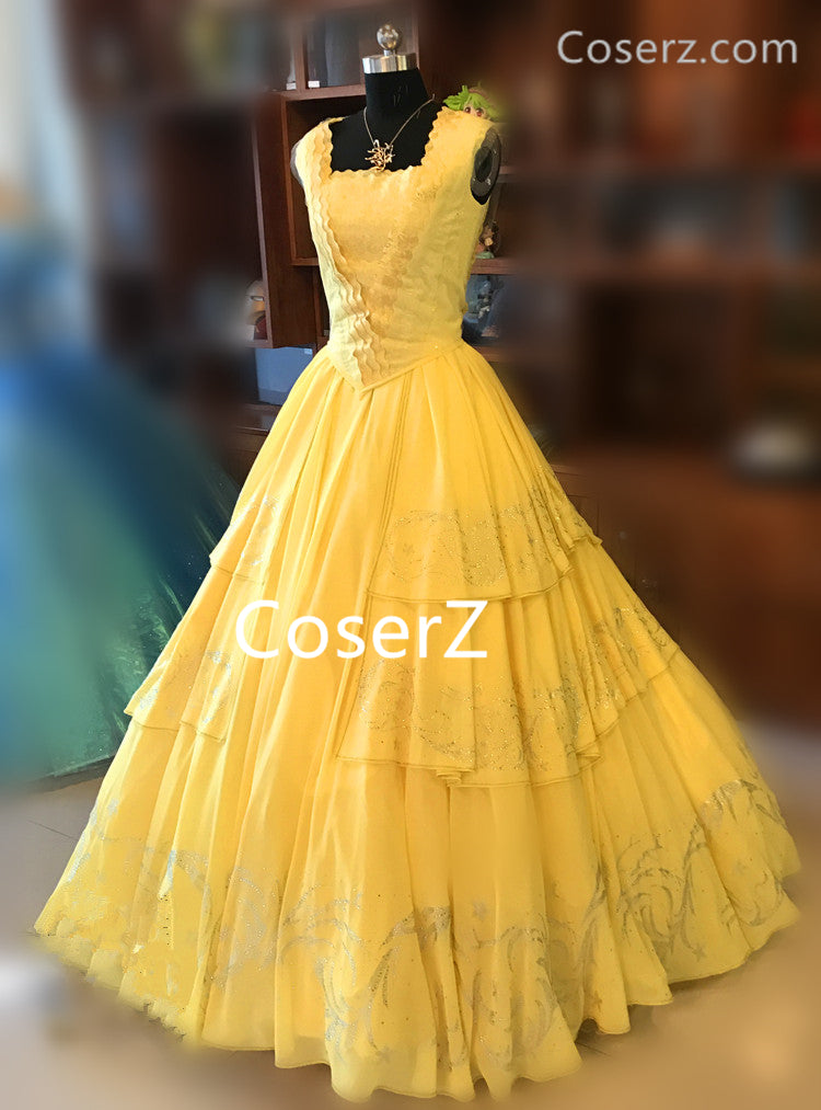 2017 Movie Beauty and the Beast Princess Belle Dress, Belle Costume Halloween Costume