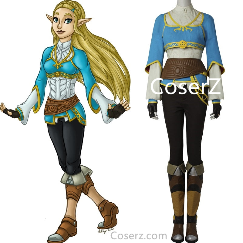 The Legend of Zelda Breath of the Wild Princess Zelda Costume Cosplay Outfit