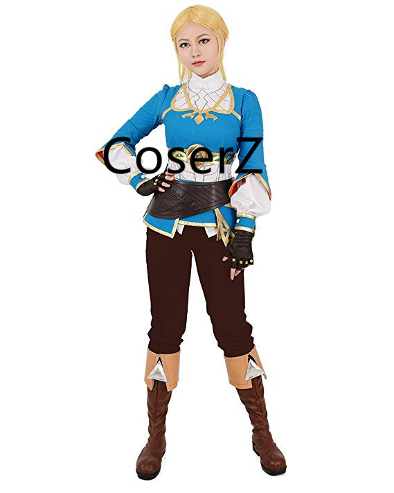 The Legend of Zelda Breath of the Wild Princess Zelda Costume Cosplay Halloween Costume