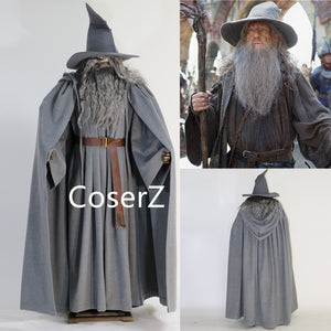Custom The Lord of the Ring Gandalf Cosplay Costume Gandalf Costume Halloween