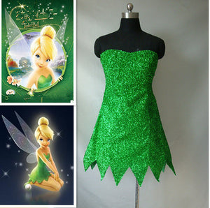 Custom Tinkerbell Costume, Tinkerbell Cosplay Costume, Tinker Bell Costume for Adults