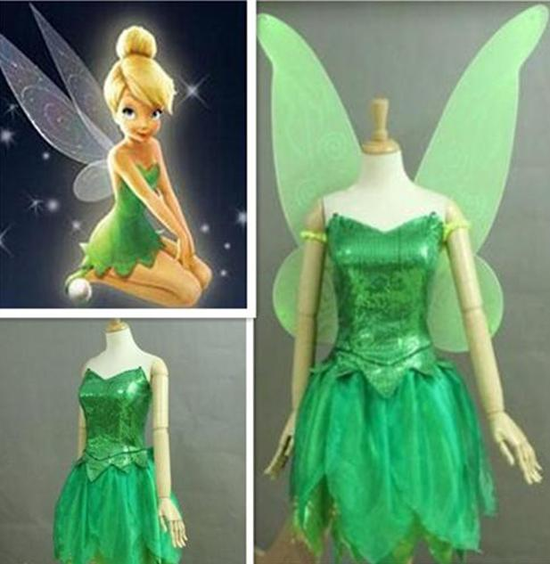 Tinkerbell Costume with Wings, Tinkerbell Cosplay Costume with Wings ...