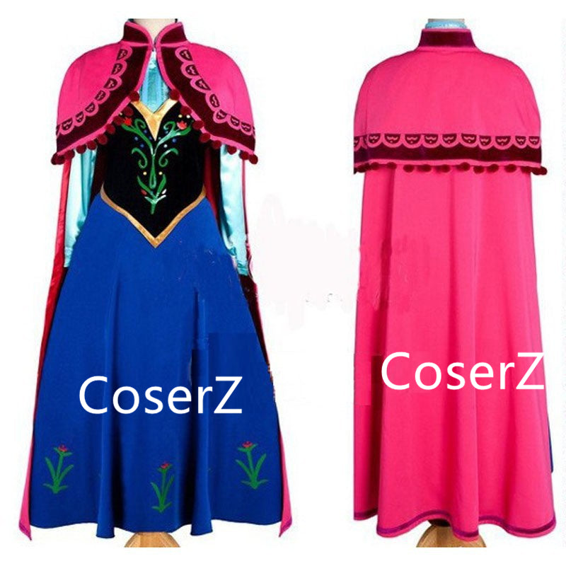 Custom-made Anna Costume Cosplay Costume for Adults
