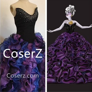 957d41b05 Little Mermaid Ursula Costume, Plus Size Ursula Costume Adult for Wome –  Coserz